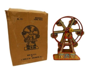 1930'S CHEIN  MECHANICAL FERRIS WHEEL / BOX