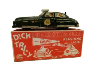 MARX DICK TRACY POLICE SIREN SQUAD CAR NO.1 / KEY