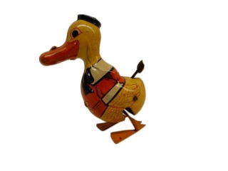 1930'S CHEIN TIN LITHO WIND-UP DUCK