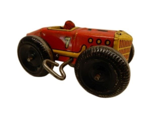 MARX NO. 7 TIN LITHO WIND-UP RACE CAR