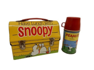 1968 HAVE LUNCH WITH SNOOPY / THERMOS BASEBALL