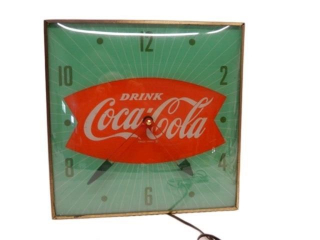 DRINK COCA- COLA FISHTAIL ELECTRIC CLOCK