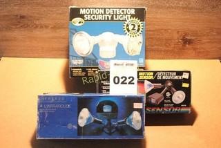 Three Pack of Mason Sensor Lights