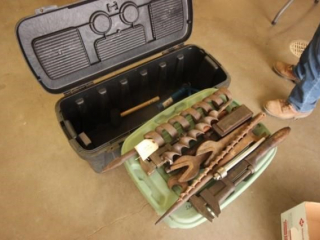 Tool Box and old vintage tools