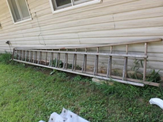 40 wooden extension ladder