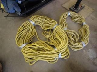 "2 rolls of 3/4"" rope"
