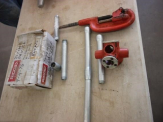 Ridgid pipe threader & cutter