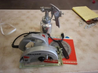 Circular saw & paint sprayer