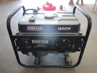 Ironton 1800 watt gas generator