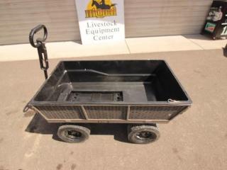 4 wheel utility dump cart
