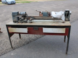 2 wood lathes on stand