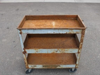Metal rolling shop cart