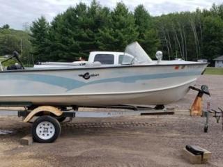 Crestliner 16' Alum Boat w/Trailer
