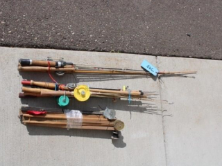 Variety of fishing rods & tip ups