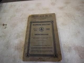 1932 MenomonieTelephone Directory