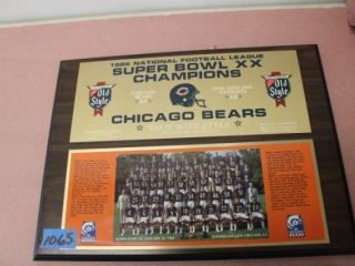 (2) Chicago Bears Plaques - Clock