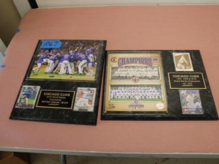 (2) Chicago Cubs Plaques