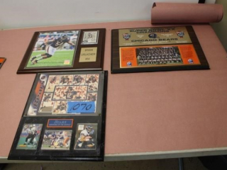 (3) Chicago Bears Plaques