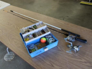 Fishing Pole & Tackel Box