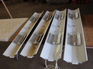 4 Halogen shop lights