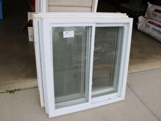(2) White Vinyl Windows