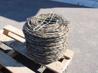 New roll of barbed wire