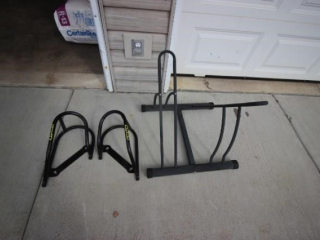 Bike stand & motorcycle trailer rack