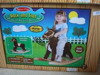Melissa & Doug Rock and Trot Plush Rocking Horse