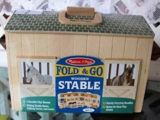 Melissa & Doug Fold & Go Wooden  Stable