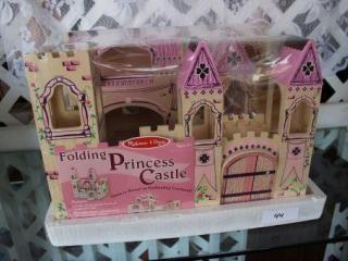 Melissa & Doug Wooden Folding Princess Castle