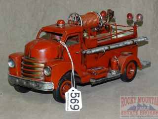 Neat Tin Decorative Fire Truck.