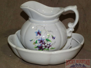 McCoy Pottery Small Size Pitcher & Bowl.