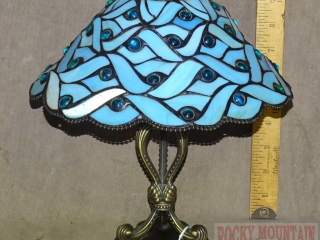 Beautiful Tiffany Style Stained Glass Candle Lamp.