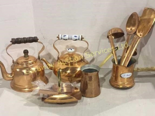 Collection of Copper Items