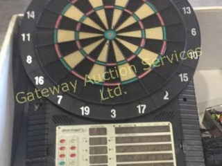 Electric Dart Board with Darts and Tips.