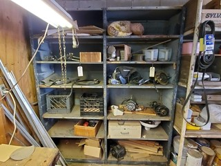 Steel storage unit & contents