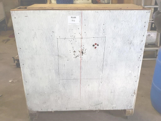 Metal plated shooting target