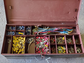 Box of electrical fittings