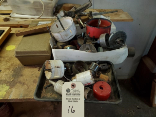 (34) Assorted Hole Saws