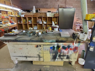 Rolling workbench and contents