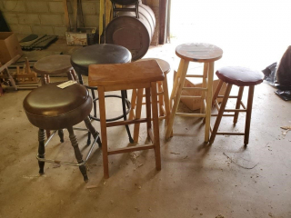 (7) assorted stools