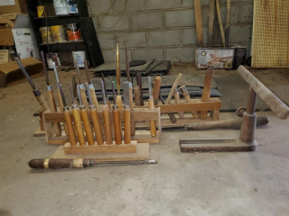 23 - Wood lathe tools