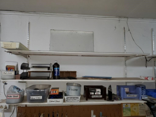 Wall shelves & contents