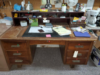 Secretary Desk & File Cabinet