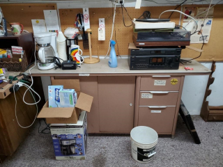 Office cabinet & contents