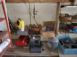 Pegboard display shelf