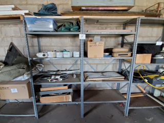 Steel storage shelf & contents