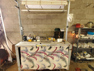 Rolling Workbench & contents
