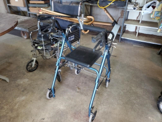 TuffCare Wheelchair, Walker, & 6 Canes