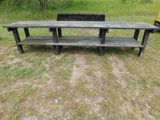 Wood Work Bench - 12' x 29.5
